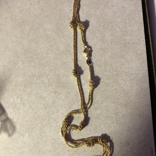 Knot gold necklace