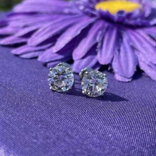 4.06 ct DIAMOND STUDS