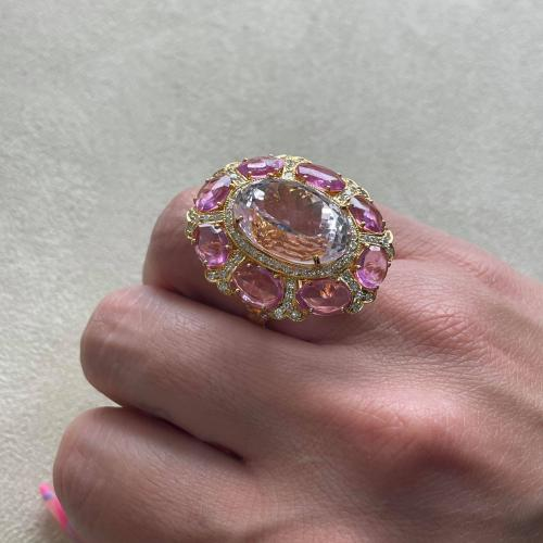 One-of-a-Kind Kunzite and Pink