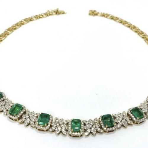 14K Gold Emerald and