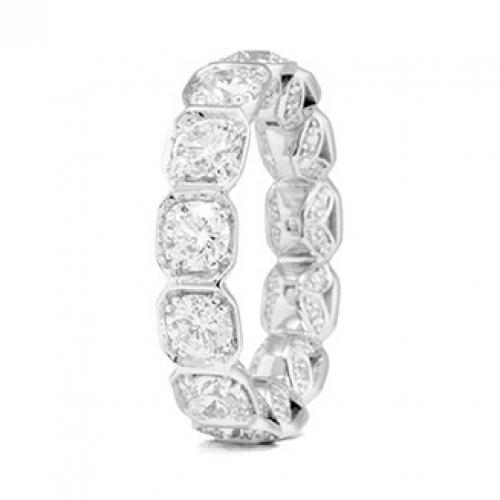 14-KWhite Gold 3.90ct Bezel