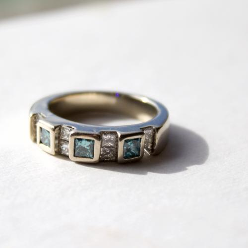 Princess Cut Blue Diamond