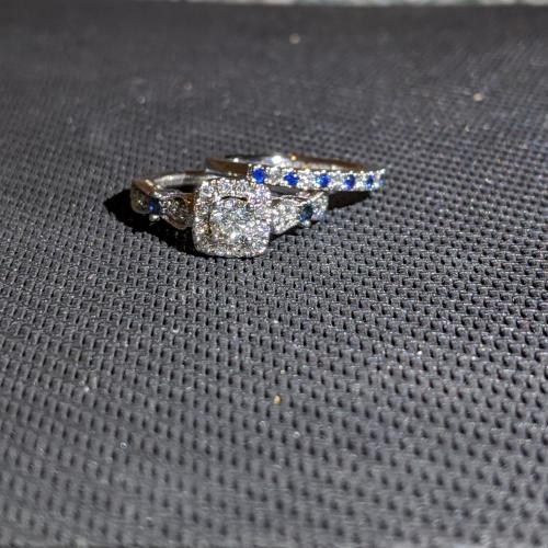 natural sapphire and diamond