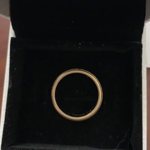 14-karat gold wedding band
