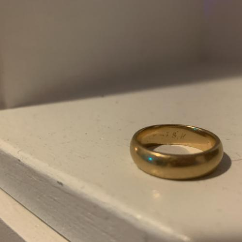 18k gold Men's wedding