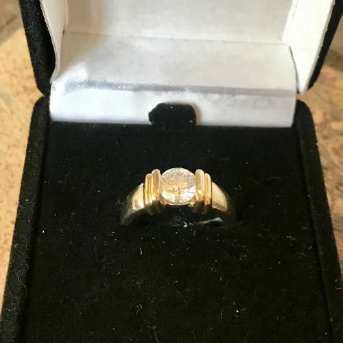 14kt two-tone gold wedding