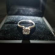 Platinum Solitaire Diamond Ring.