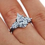 Platinum Engagement Three Stone