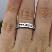 Unique Half-Way Eternity Diamond