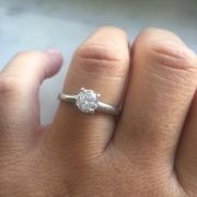 Colorless .99 Platinum Ring
