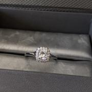 .63 Cushion diamond engagement