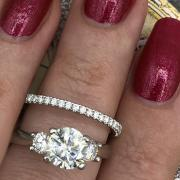 Three stone engagement set