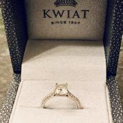KWIAT CUSHION DIAMOND ENGAGEMENT