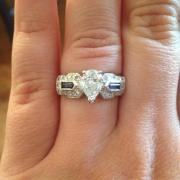 Beautiful pear-shaped diamond and
