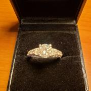 Diamond engagement ring, new,