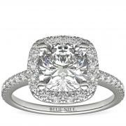 Cushion Cut Halo Diamond