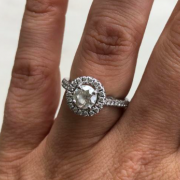 AGS Certified 1.28ct Platinum