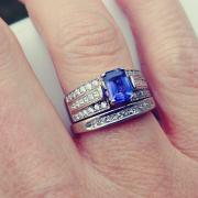 White Gold Tanzanite/Diamond Ring