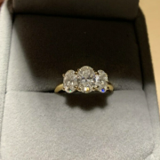 Oval Three-Stone Moissanite by
