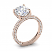 Rose Gold Oval Engagement