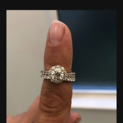 Leo engagement ring with