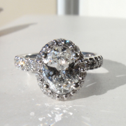 1.70 Oval Halo Diamond