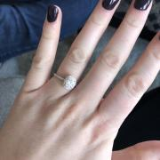 8x6 Oval Halo Engagement