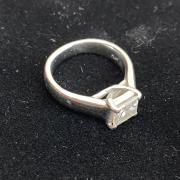 classy streamlined engagement ring