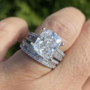 6.00 Carat wedding set