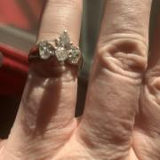 Marquise 14kt White Gold
