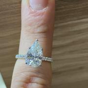 2.44ct Pear Diamond Engagement