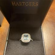 Tiffany Style Legacy Aquamarine/Diamond
