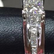 Custom princess cut 1.93ct
