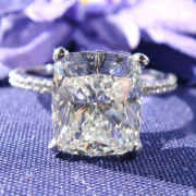 4.61 carat Cushion solitaire