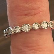 Diamond eternity band stack