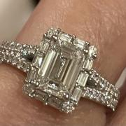 Platinum emerald cut engagement