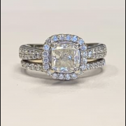 Engagement ring and sauntered