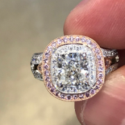 Custom Cushion Cut Engagement