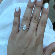 Pear-Shaped Engagement Ring