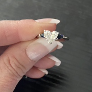 Heart-Shaped Diamond with Sapphires
