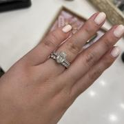 10.5x7 Moissanite Center with