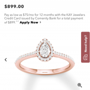 Kay Jewelers Pear Engagement