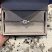 Antique-style engagement ring