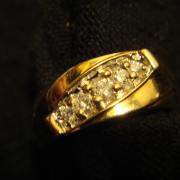 14k Gold Band w/diamonds