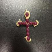 14K Ruby Cross
