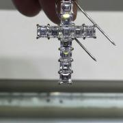 18k Asscher Cut Cross