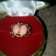14K Yellow Gold Pink