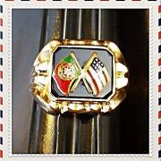 PORTUGAL+USA Vintage 19.2Kt GOLD