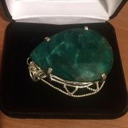 Fabulous Emerald green silver