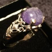 Tanzanite solitaire ring
